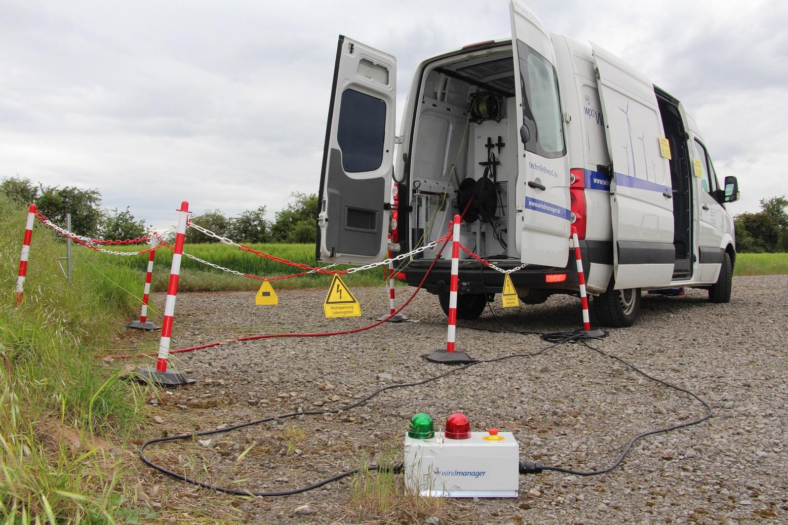 wpd windmanager ist der erste Betriebsführer mit eigenem Kabelmesswagen