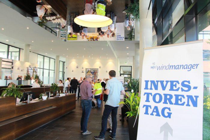 """Am 28.06.2019 lud wpd windmanager bereits zum achten Mal zum sogenannten """"Investorentag""""."""