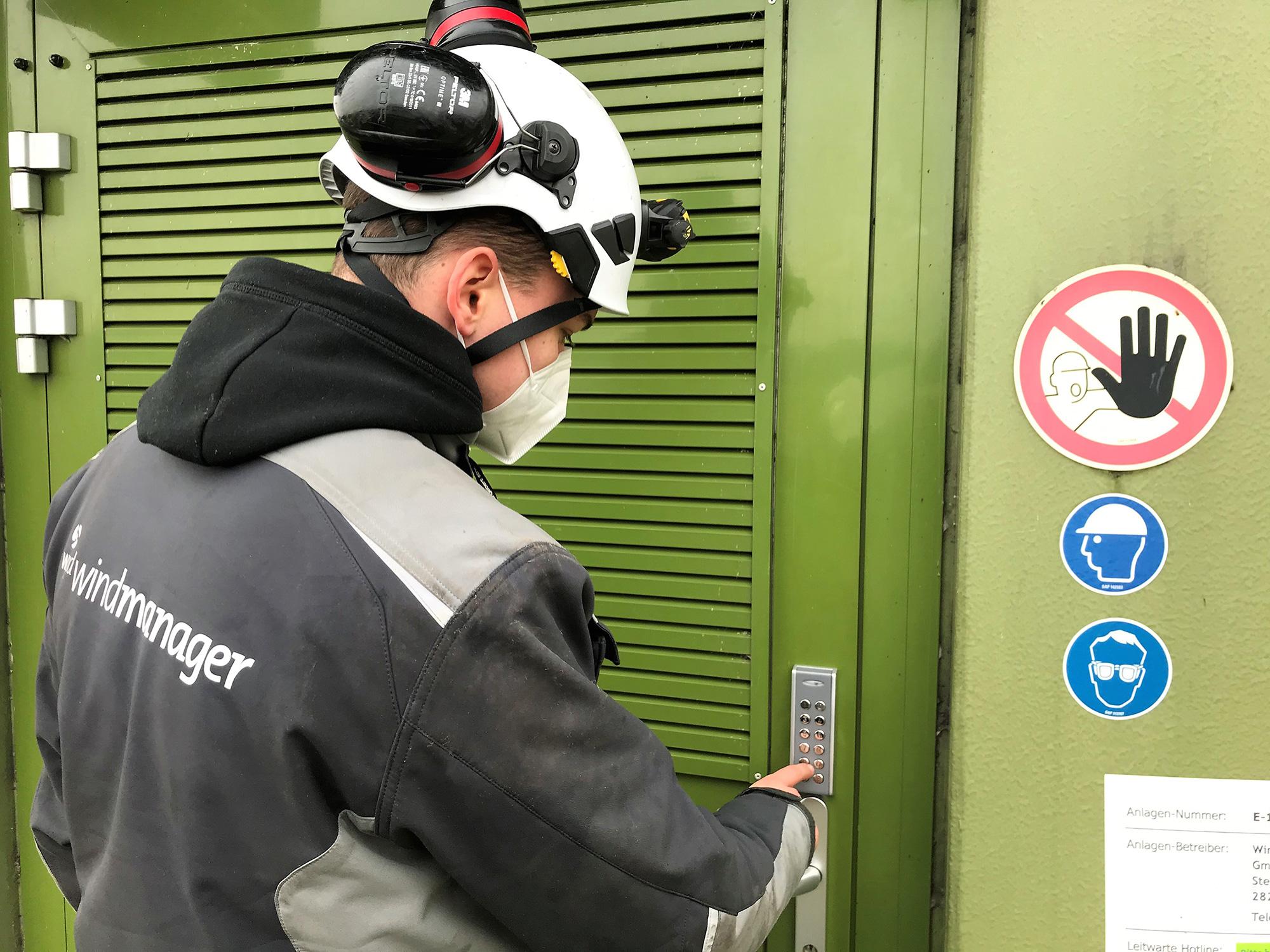 Zutrittskontrollsystem für Windparks